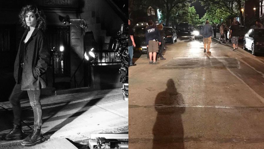 """Alex Rodriguez visitó a Jennifer Lopez en el set de grabación de """"Shades Of Blue"""""""