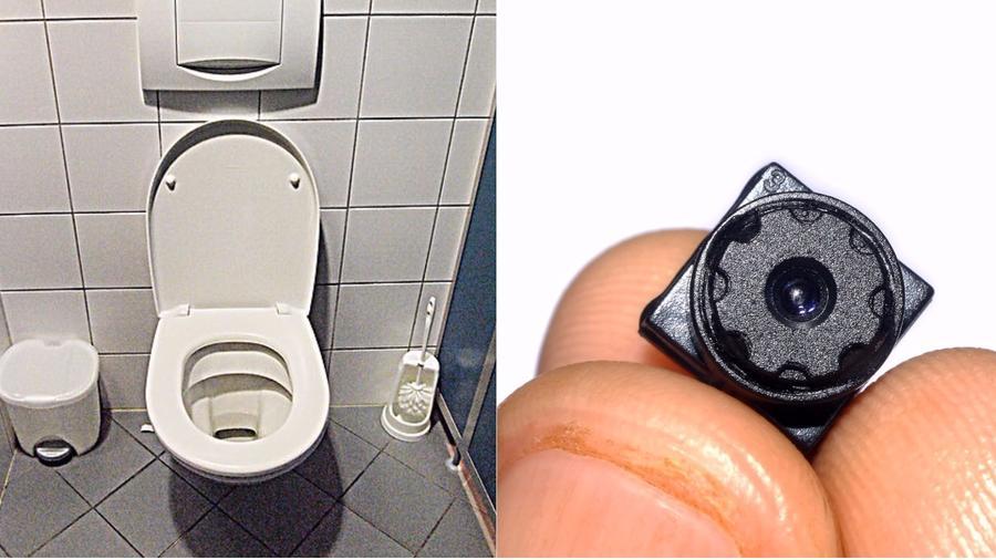 cámara oculta en el baño
