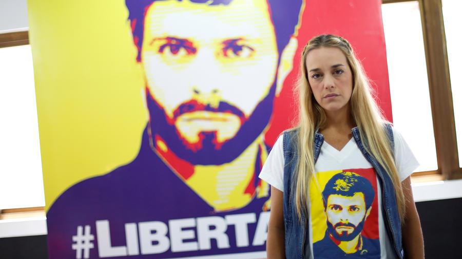 Lilian Tintori, esposa del preso político venezolano Leopoldo López