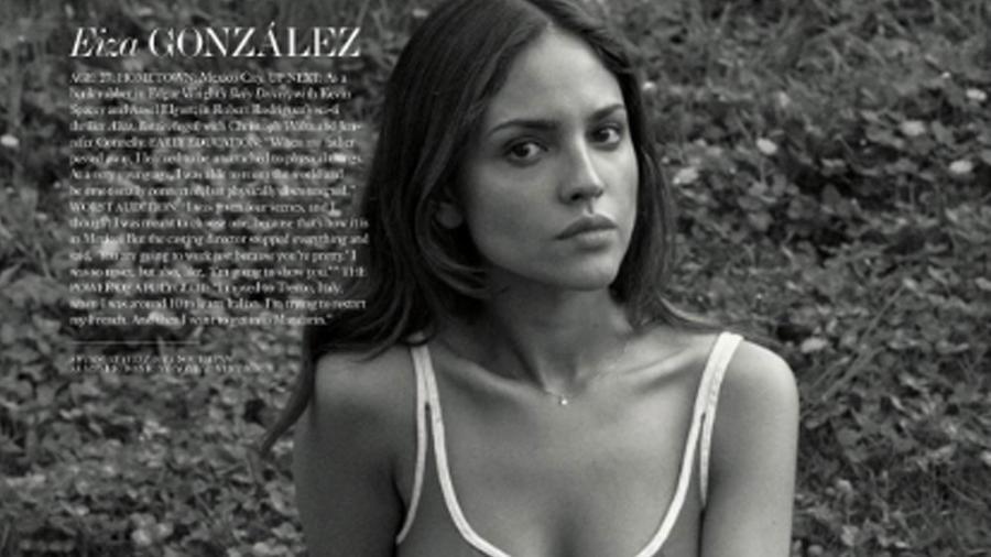 Eiza González posando para Interview Magazine