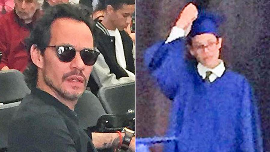 Collage de Marc Anthony y su hijo Ryan
