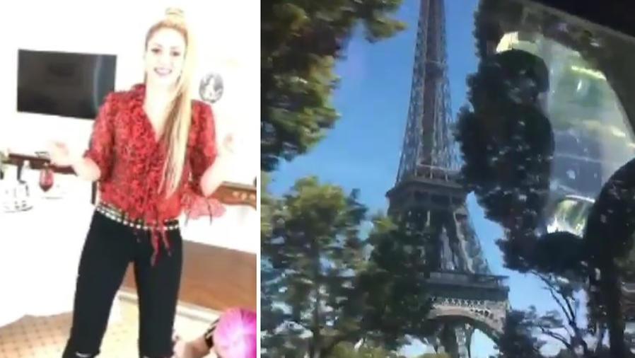 """Shakira bailando """"Me Enamoré"""" en París"""
