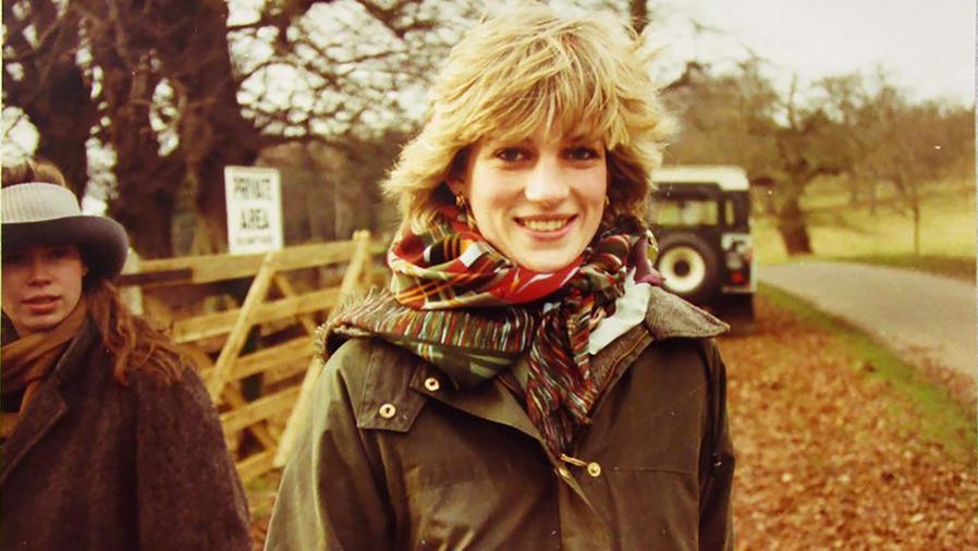 Princesa Diana en un día de campo