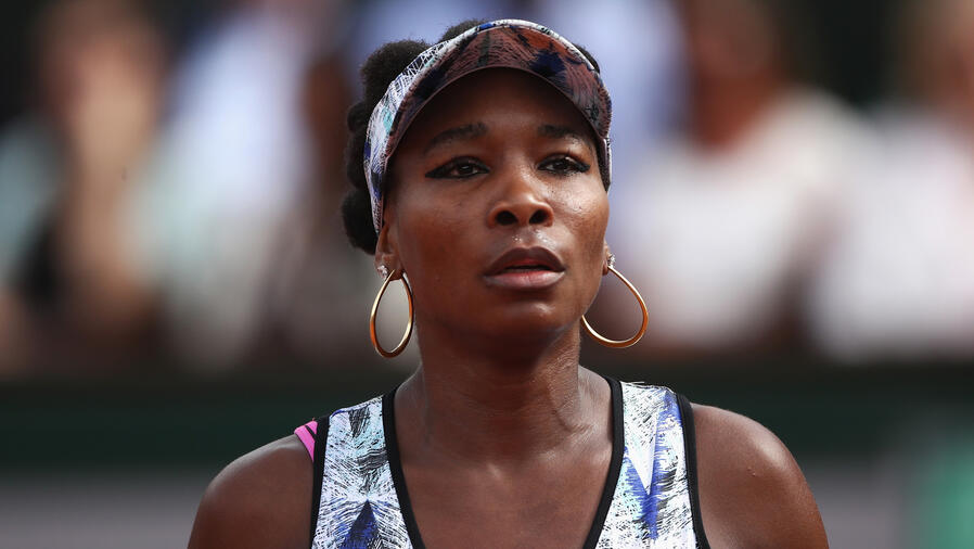 Venus Williams en partido de tenis