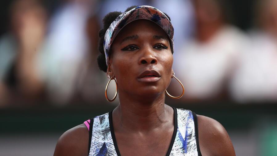 Venus Williams en partido de tenis