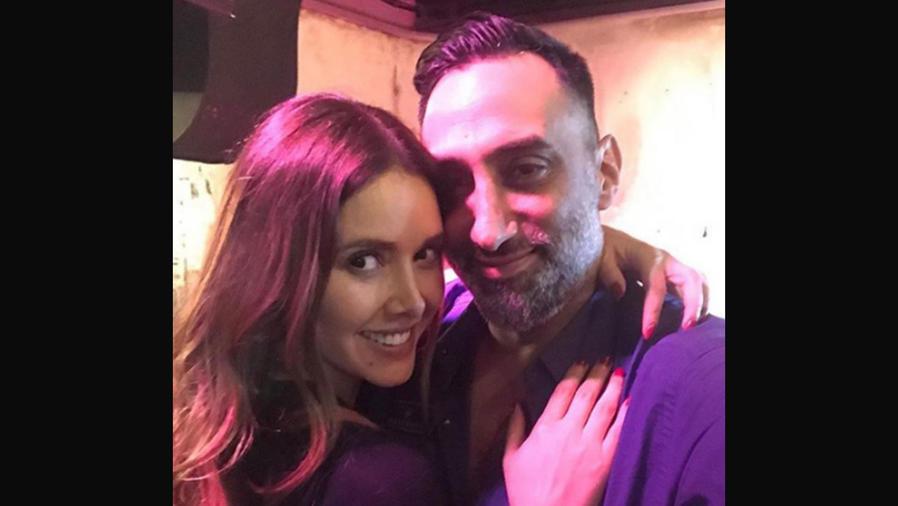 Marlene Favela con su prometido George Seely