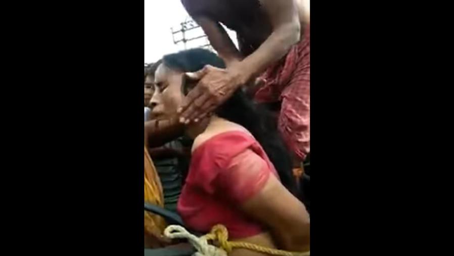 Mujer es atacada por tráfico de niños (VIDEO)
