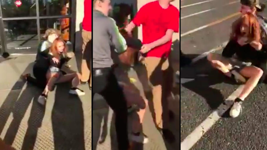 Indignación por joven que fue maltratada por robarse un dulce (VIDEO)