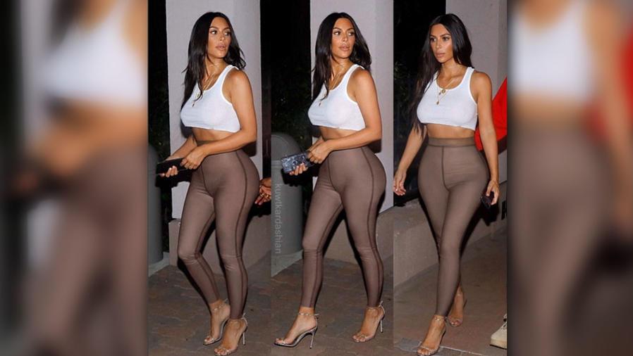 Kim Kardashian lució muy sexy con un tank top