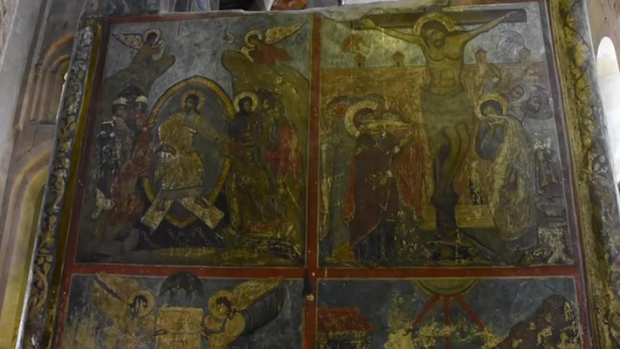 Hallan un platillo volante en una pintura religiosa antigua (VIDEO)