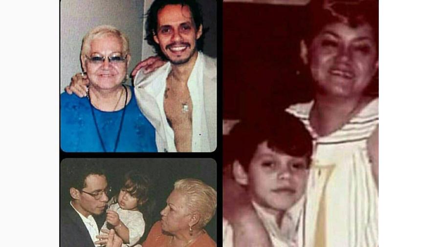 Marc Anthony con su mamá