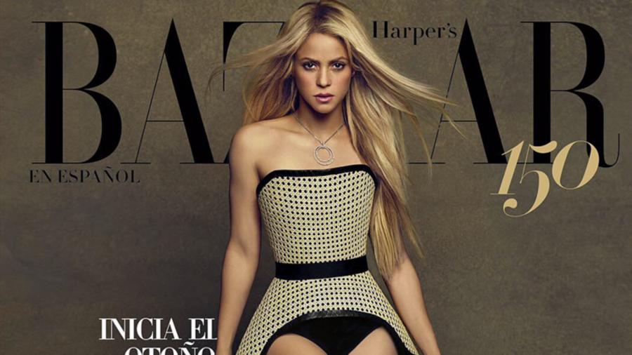 Shakira en portada de revista Bazar