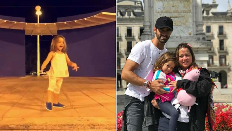 Alaïa bailando, y con sus papás
