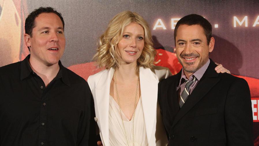 Jon Favreau, Gwyneth Paltrow and Robert Downey Jr.