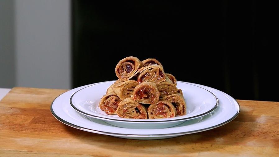 Espirales de mantequilla de maní y jalea