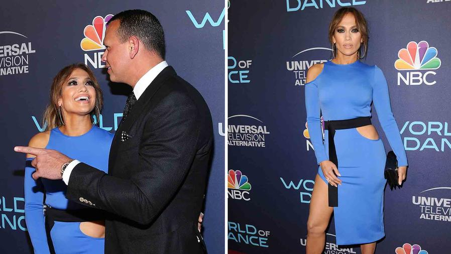 "Jennifer Lopez Dazzles in Blue Alongside A-Rod at ""World of Dance"" Event"