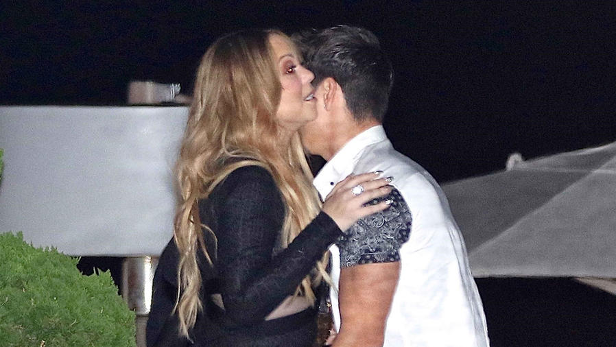 Mariah Carey con su novio Bryan Tanaka