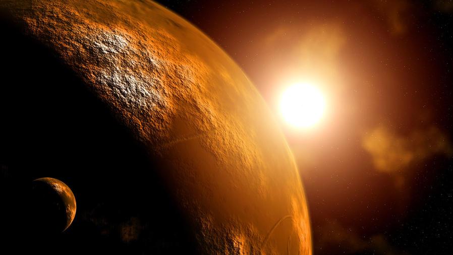 Marte en el espacio exterior