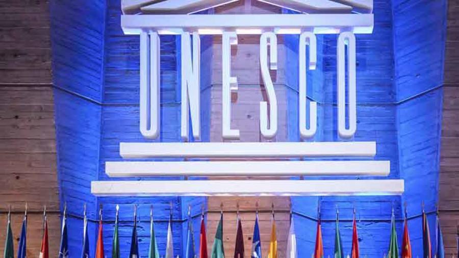 Una conferencia de prensa de la UNESCO
