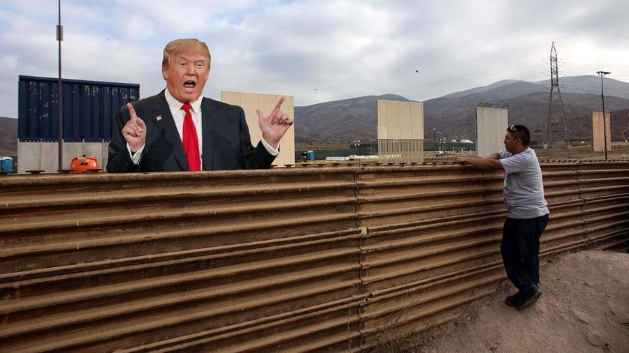 Muro en la frontera con México