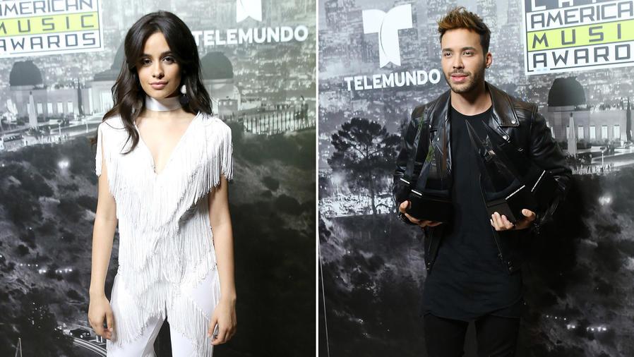 Collage Camila Cabello y Prince Royce