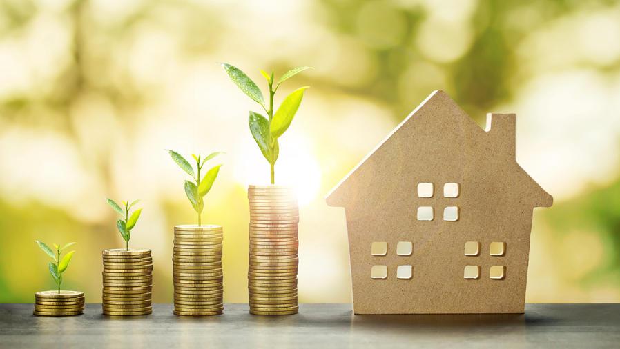 Modelo de casa con ahorros crecientes