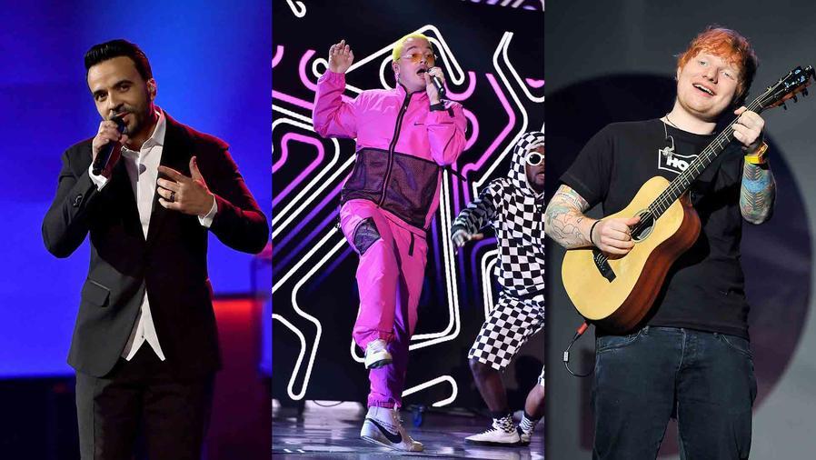 Luis Fonsi, J Balvin, Ed Sheeran