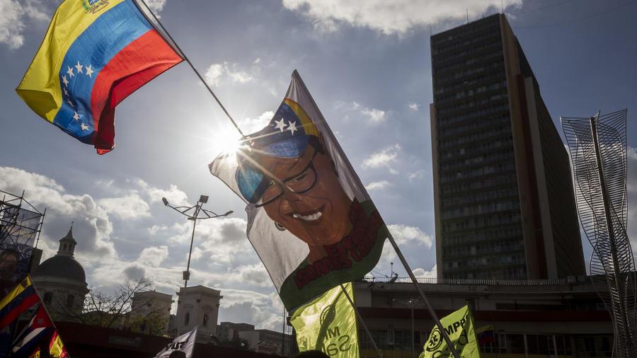 Acto de Érika Farías, candidata a la alcaldía del municipio Libertador, el pasado jueves.