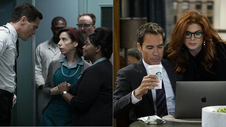 "Escenas de ""The Shape of Water"" y ""Will & Grace"""