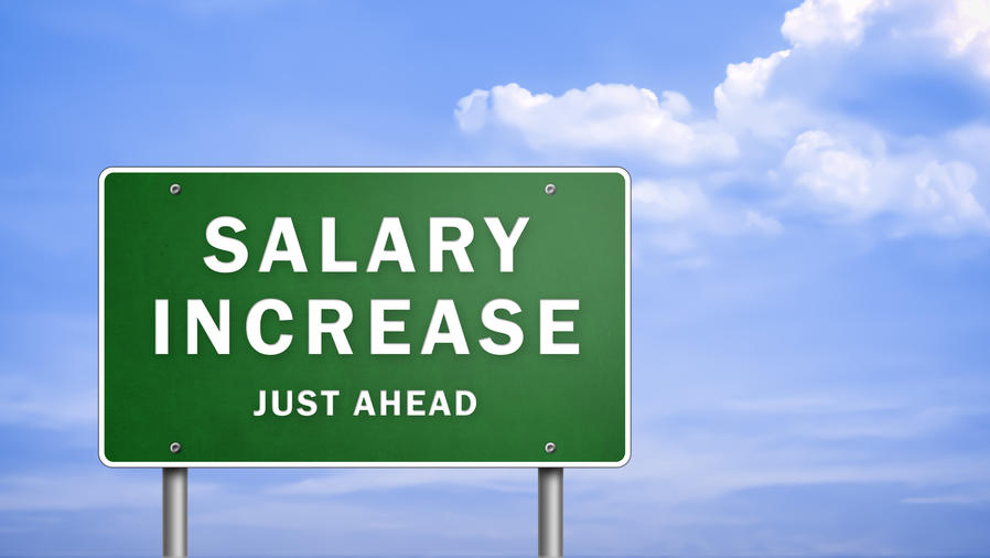 Cartel de aumento salarial