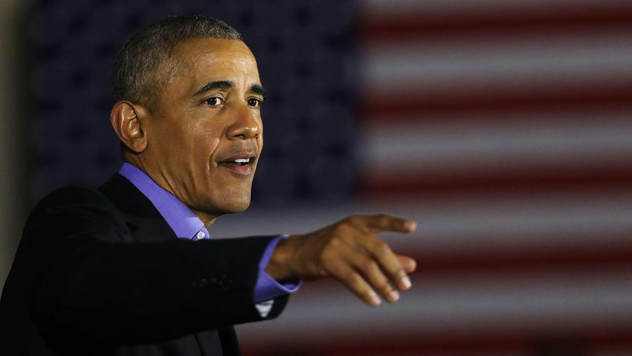 Barack Obama en un meeting