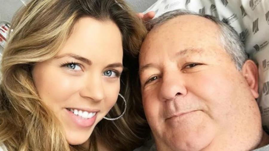 Ximena Duque con su papá