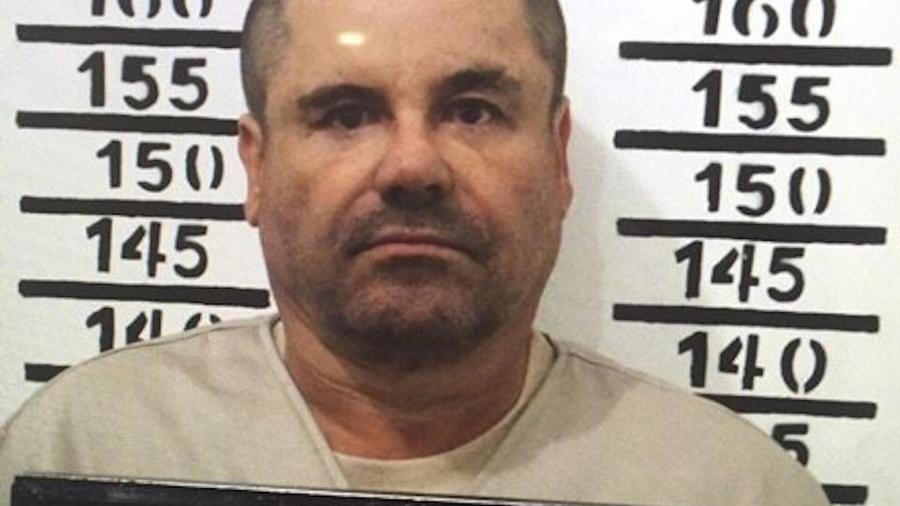Joaquin El Chapo Guzman al momento de ingresar a prisión en Almoloya, México, el 19 de enero de 2017.