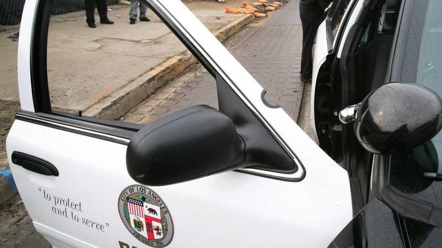 Foto de archivo de una patrulla de la Policía de Los Angeles, California