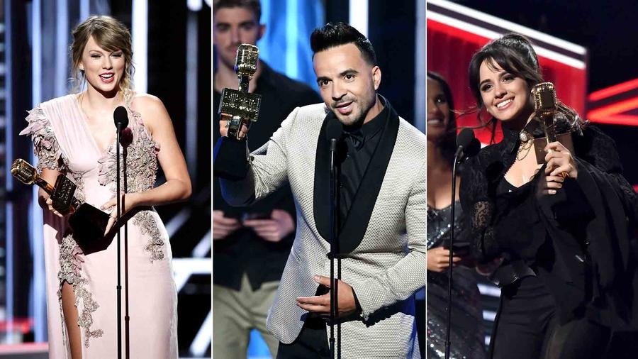 Taylor Swift, Luis Fonsi, Camila Cabello at the Billboard Music Awards 2018