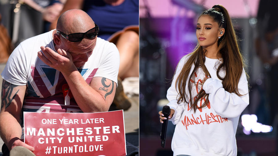 Ariana Grande sends love to fans on Manchester anniversary