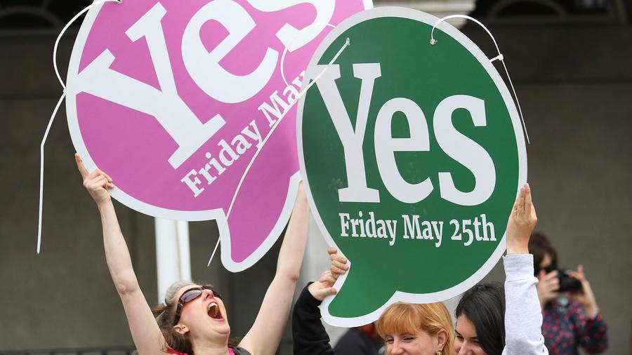 Manifestaciones a favor del aborto en Irlanda