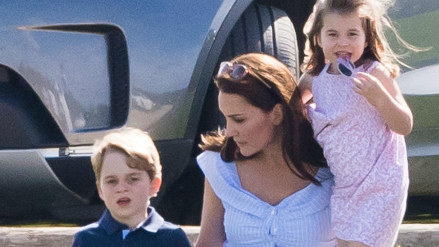 Kate Middleton, príncipe George, princesa Charlotte