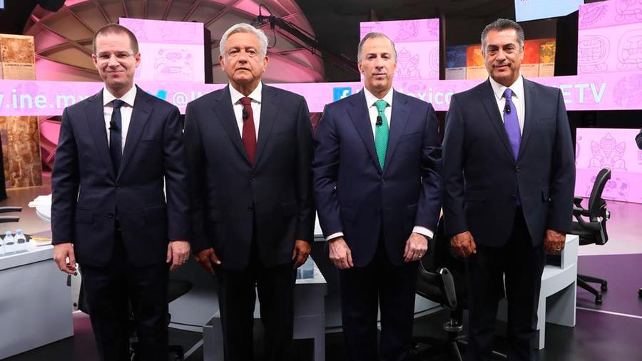 Los candidatos a la presidencia de México en el tercer y último debate