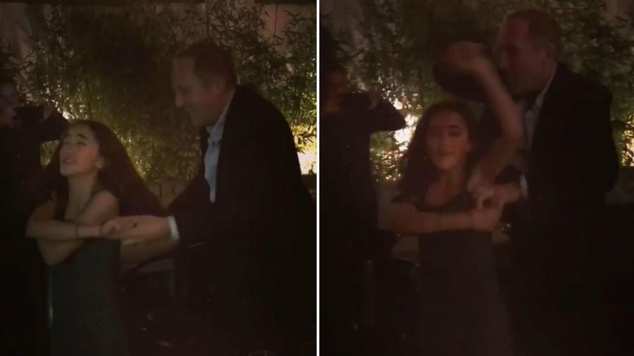 Valentina Paloma bailando con su papá
