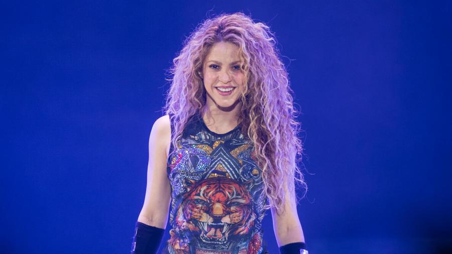 """Shakira durante un concierto de """"El Dorado"""""""