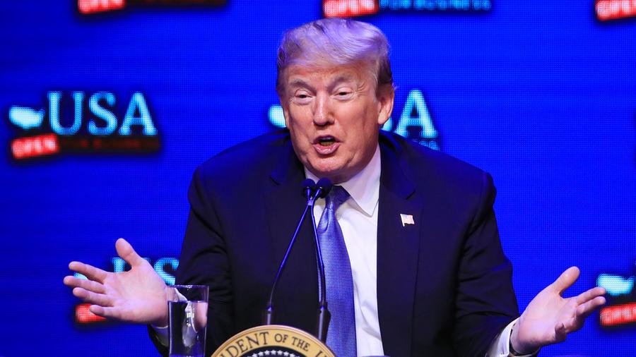 El presidente Trump en Las vegas, Nevada el sábado 23 de junio de 2018