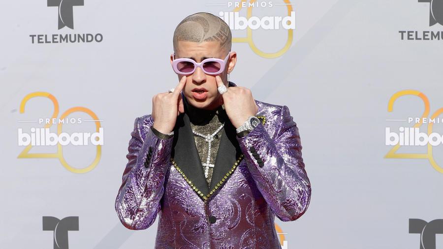 Bad Bunny en la alfombra de Premios Billboard 2018
