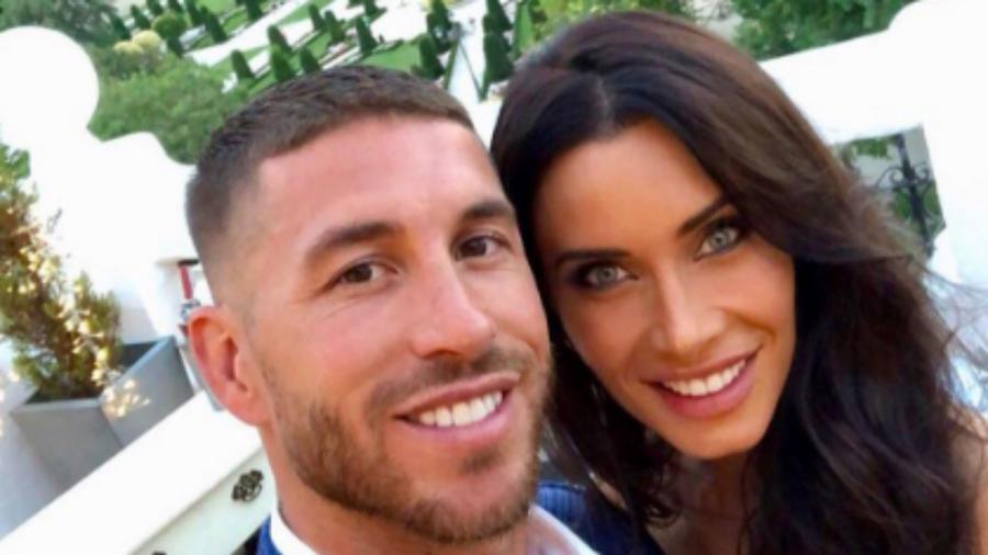 Sergio Ramos con su prometida Pilar Rubio