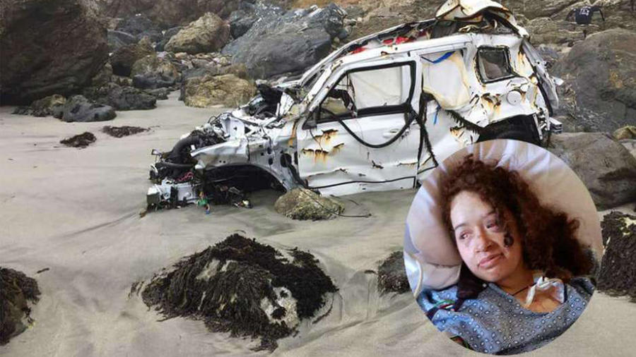 Hispana sobrevive a accidente en California