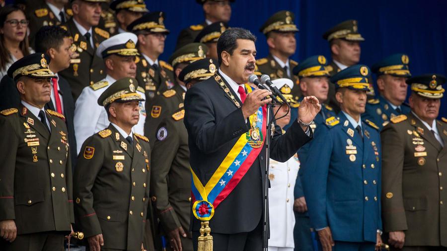 Presidente de Venezuela, Nicolás Maduro, en el discurso por el 81 aniversario de la Guardia Nacional