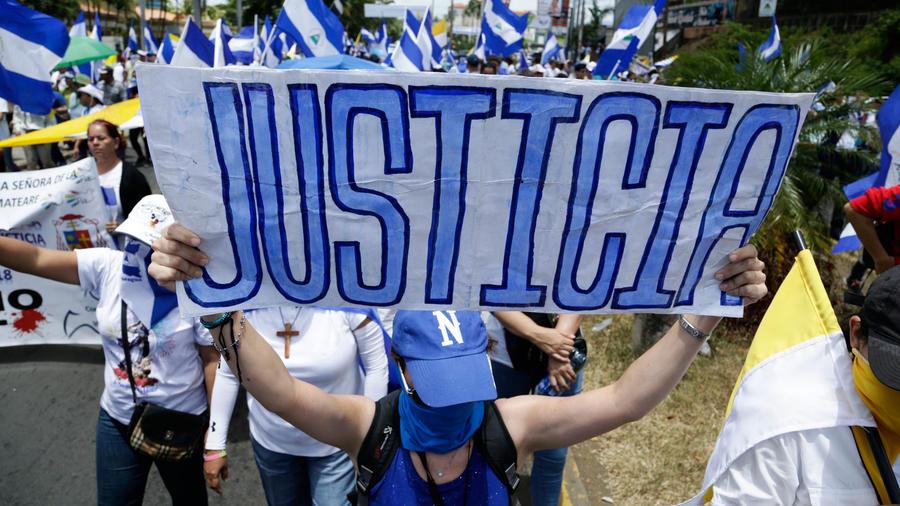 Marcha contra el gobierno de Daniel Ortega en la capital de Nicaragua, Managua, en imagen de archivo