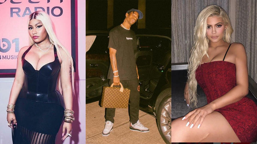 Nicki Minaj, Travis Scott, Kylie Jenner