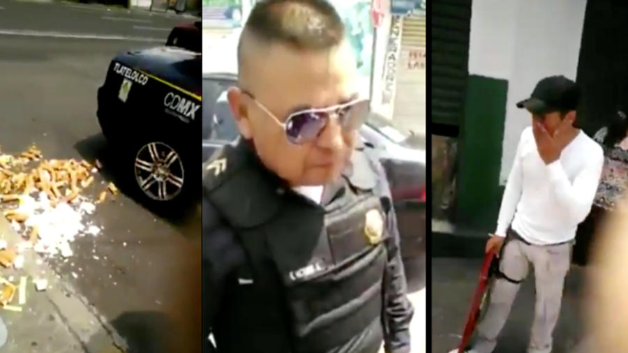 El vendedor de merengues lloraba tras el accionar de los policías