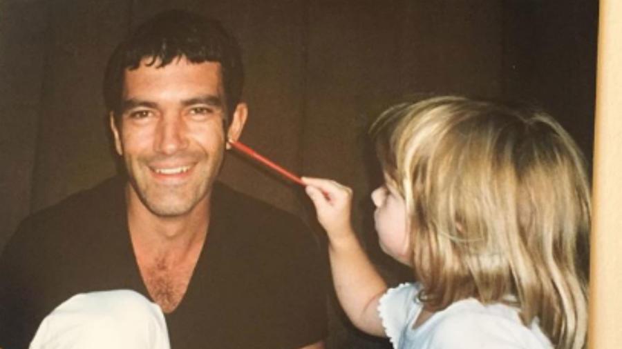 Antonio Banderas con su hija Stella